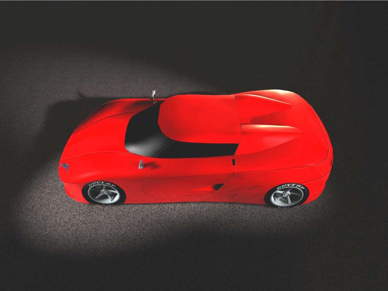 Lateral superior de las primeras ideas para un Ferrari