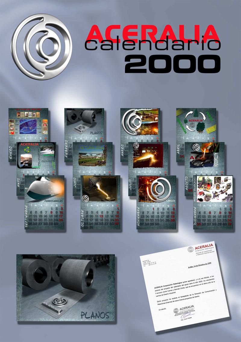 Calendario para el Grupo Aceralia del año 2000