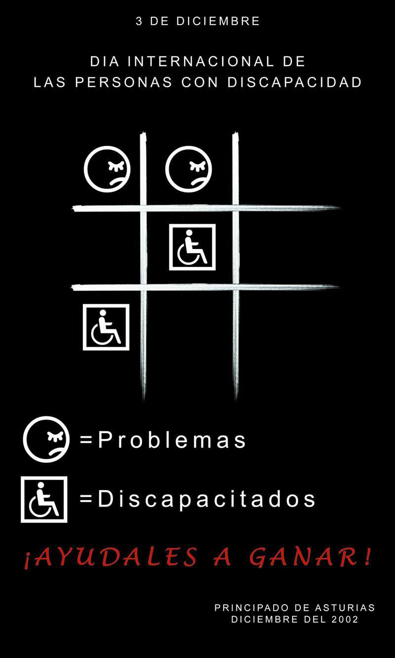 Cartel para el día de los discapacitados en Asturias
